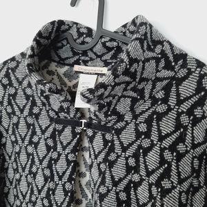 CHIARAMENTE Wool Blend Sweater Jacket Open Front